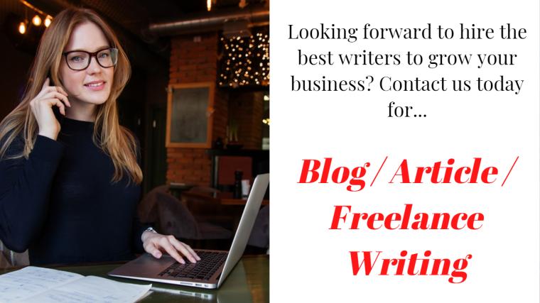Blog Article Freelance Writing