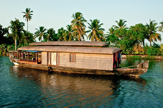 Lunch in a Traditional Backwater Houseboat in Kerala