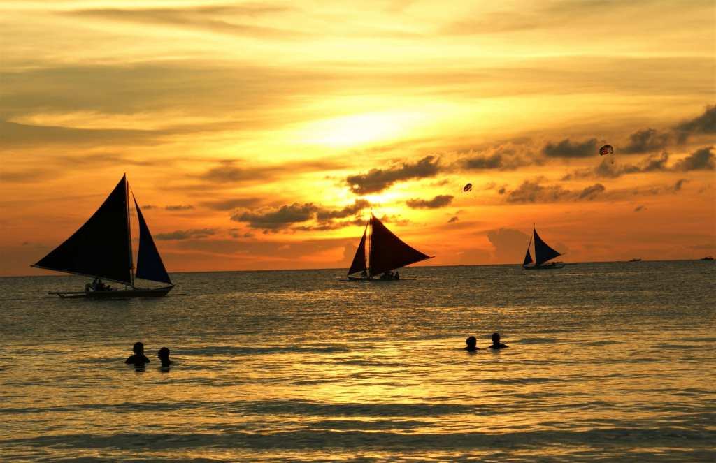 Sunset At Boracay Beach